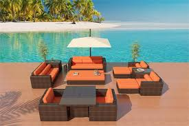 outdoor wicker sofa dining set patio furniture set 6a 1