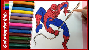 coloring pages spiderman how to draw spiderman drawing and