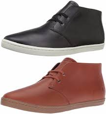 fred perry men fashion shoes ankle boots byron mid leather black