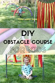 diy obstacle course for kids the in the red shoes