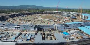 new videos show apple u0027s spaceship campus 2 construction progress