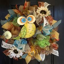 Sunflower Mesh Wreath Shop Owls For Mesh Wreaths On Wanelo
