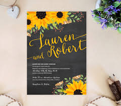 sunflower wedding invitations sunflower wedding invitations only by invite
