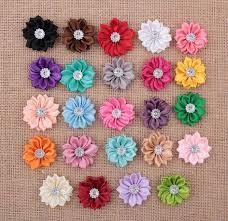 flowers for headbands 3 5 cm diamond sun flower fabric flower for headbands
