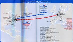 Flight Routes Map by Http Airchive Com Galleries Airfrance7607map Concorde 22972 Jpg