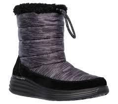 womens bike riding boots skechers women u0027s halo glory black winter boot
