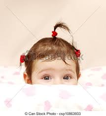 baby hair ties stock images of baby girl shone with happiness curly hair