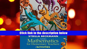 read online mathematics for elementary teachers with activities