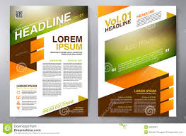 brochure design a4 template stock vector image 52800891