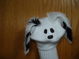 dalmation sock puppet dog moveable mouth