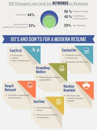 keywords in resume template infographics visual ly