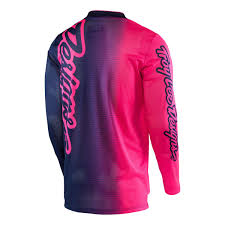 pink motocross boots troy lee designs gp air jersey pink navy youth size m ebay