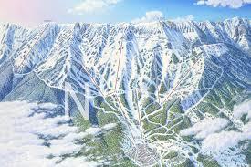 Big Sky Montana Trail Map by Bridger Bowl Montana James Niehues Map Artist Ski Maps