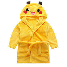 dressing gown kids dressing gown boys bathrobe warm pikachu robe