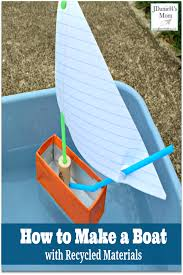 how to make a boat with recycled materials this would be fun fun