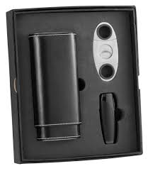 naturale and triad cigar lighter and cutter gift set