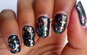 the sequined nail new years eve nails
