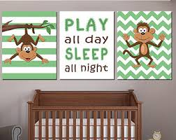 Monkey Decorations For Nursery Nursery Décor Baby Monkey Wall Safari Nursery