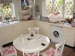 simply look of shabby chic kitchen with white color idea shabby