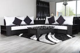 canapé sedari salon gris fonce et blanc