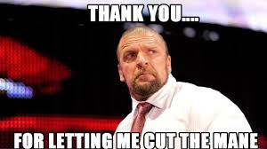 Triple H Memes - snapshots triple h retires his hair three man booth