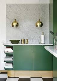 Kelly Green Door With Brass Hardware Interiors by What Looks Good With Carrara Marble U2013 Interiors For Families