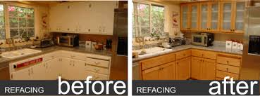 kitchen cabinet refacing before and after photos kitchen cabinets refinished refinishing before and after how much to