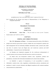 cmta bicameral approved copy customs business