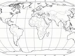 coloring page of world map kids coloring