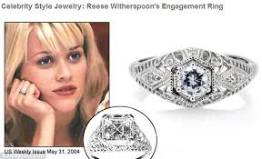 reese witherspoon engagement ring reese witherspoon files lawsuit against jewelry company for using