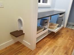 spoiled kitty comfort station hidden in mudroom space ikea