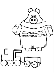 paxton piglet play train model timmy coloring