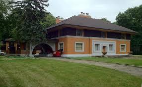 decor pennsylvania prairie style house plans for decor oak park by prairie style house with bricked wall and mini garden