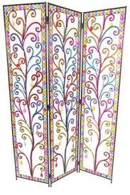3 panel tear drop colourful diamonte detail artwork metal room