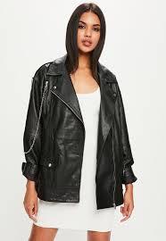 black leather biker jacket women u0027s coats u0026 jackets online missguided