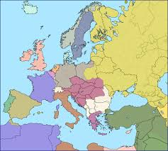 Unification Of Germany Map by Modern European Borders Superimposed Over Europe In 1914