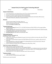 Pdf Resume Sample by It Resume Sample 12 Examples In Word Pdf