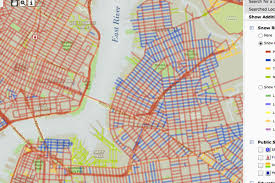 map of nyc streets interactive map tracks plowed nyc streets in real time curbed ny