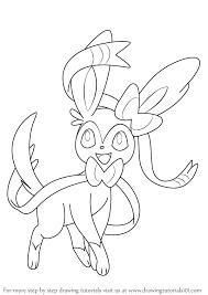 learn draw sylveon pokemon pokemon step step
