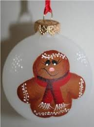 Christmas Ornaments Hand Painted by Gingerbread Ornament Handpainted And Personalized By Suzie U0027s