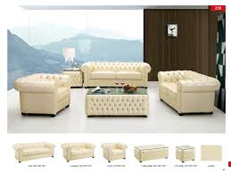 Leather Livingroom Furniture 258 Full Leather Leather Classic 3 Pcs Sets Living Room Furniture