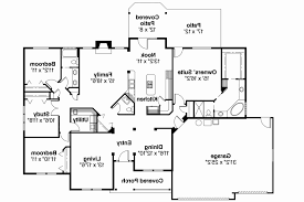 ranch style floor plans with walkout basement house plans with two master suites luxury walkout basement floor