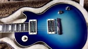 light blue gibson les paul trogly s guitars 2006 gibson les paul goddess sky blue youtube