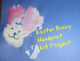 easter art bunny handprint art toddler preschool elementary