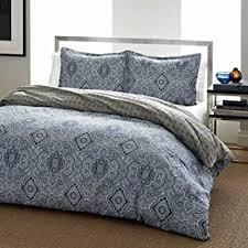 amazon com city scene milan blue duvet cover set king home
