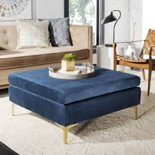 padded coffee table cover modern ottomans poufs allmodern