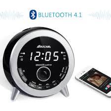 clock radio with night light rocam bluetooth digital alarm clock radio with fm radio dual alarm