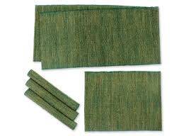 Table Place Mats Natural Fiber Table Runner And Placemats Set Of 4 Nature Of