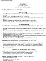 Janitorial Resume Examples Sample Resume For Custodial Worker Free Janitor Resumes Free