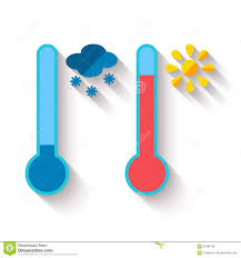 thermometer design flat design of thermometer measuring heat and cold stock vector